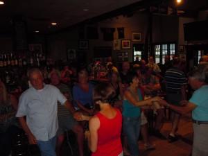 Dancing crowd at The Narragansettt Cafe in Jamestown, RI 9/2013